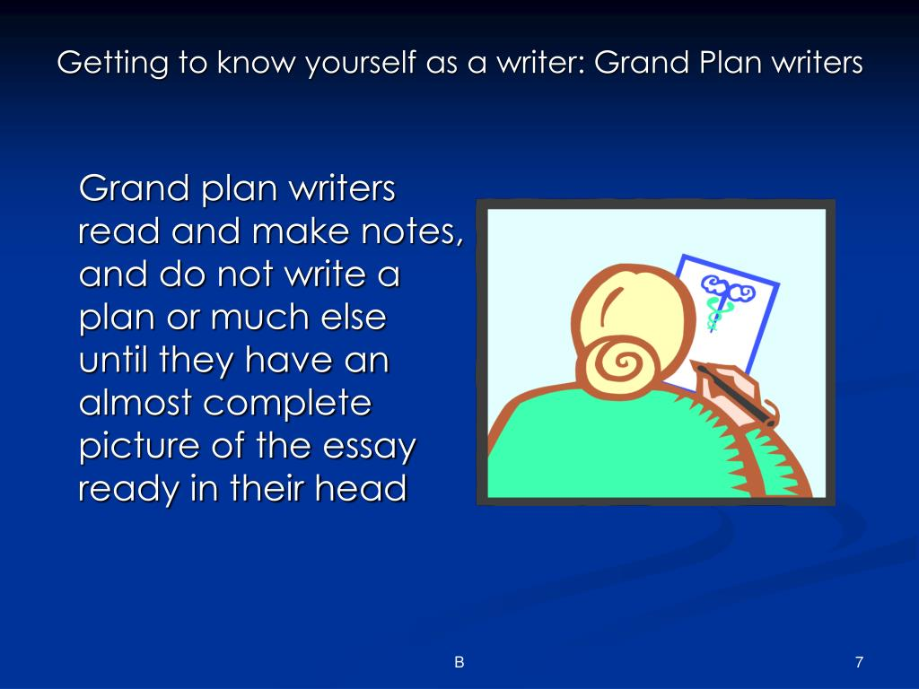 Getting to know yourself as a writer: Grand Plan writers
