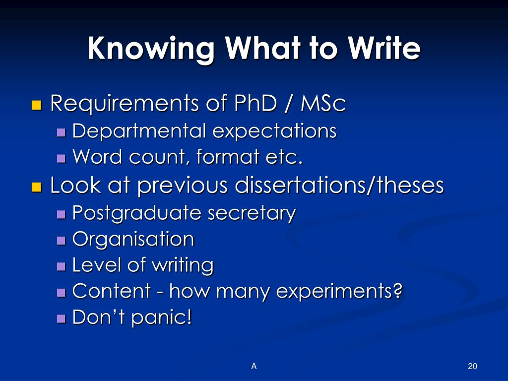 Knowing What to Write