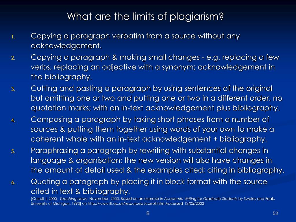 What are the limits of plagiarism?