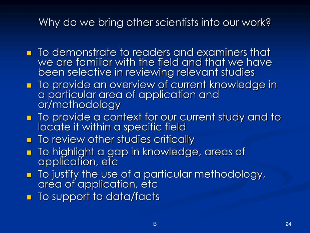 Why do we bring other scientists into our work?