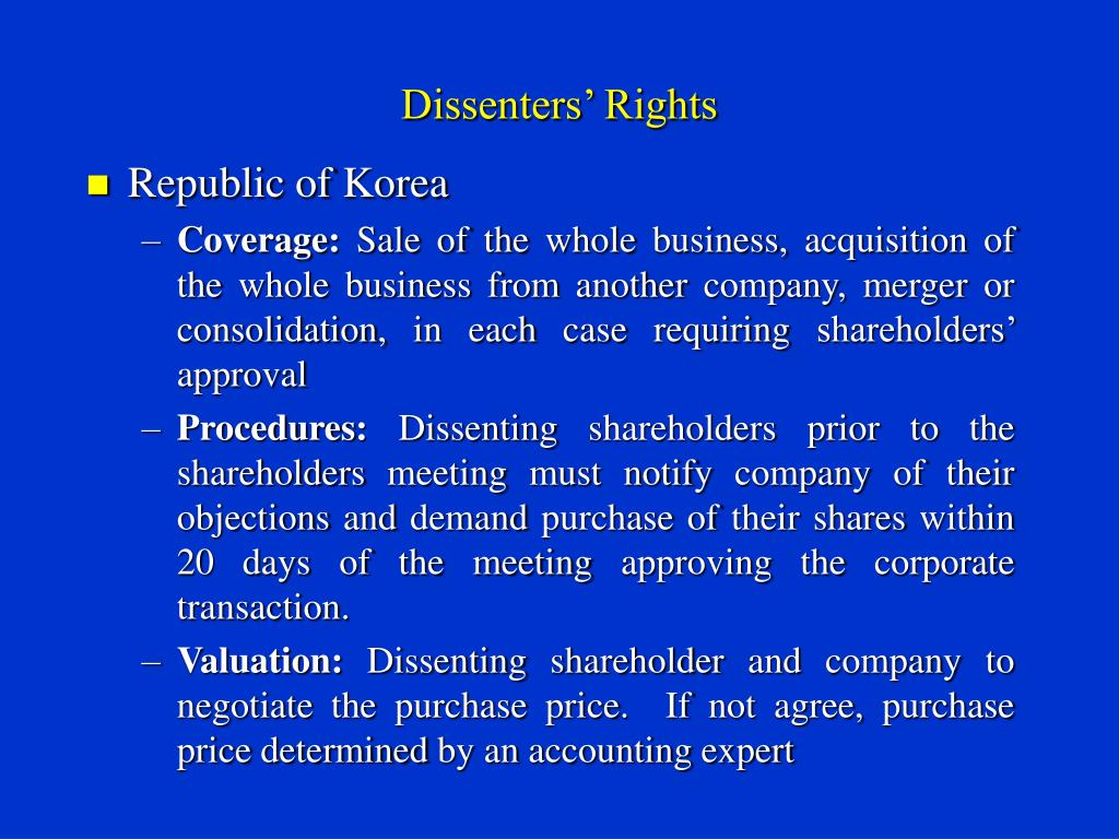 Dissenters' Rights