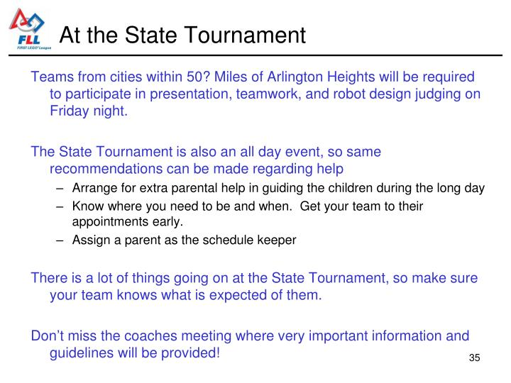 At the State Tournament