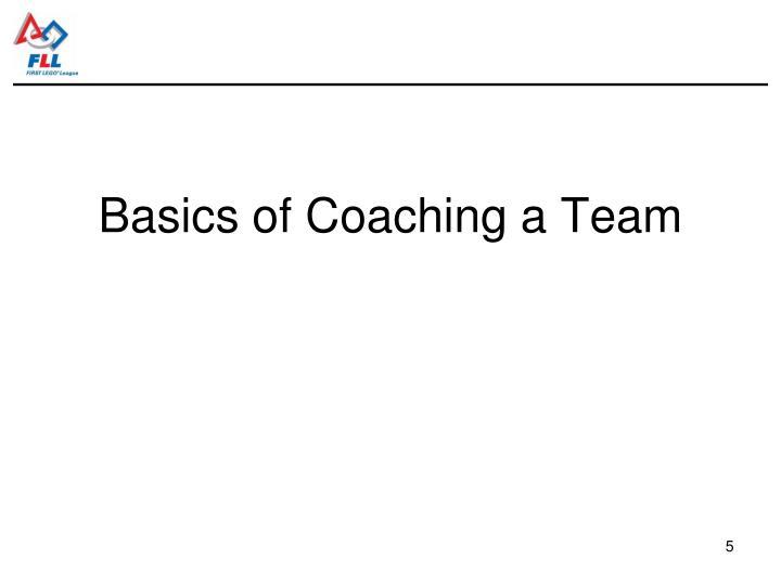 Basics of Coaching a Team