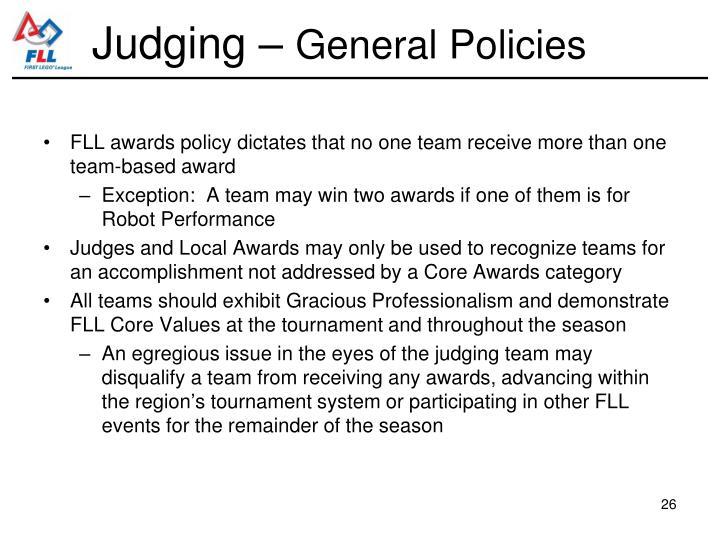Judging –