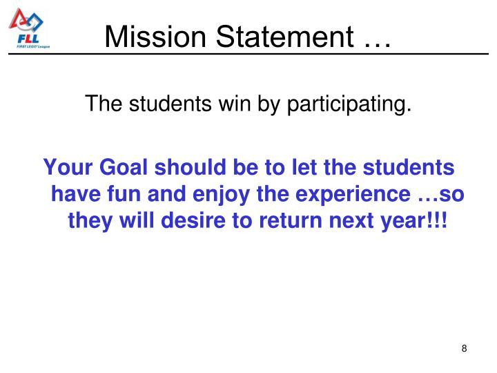 Mission Statement …