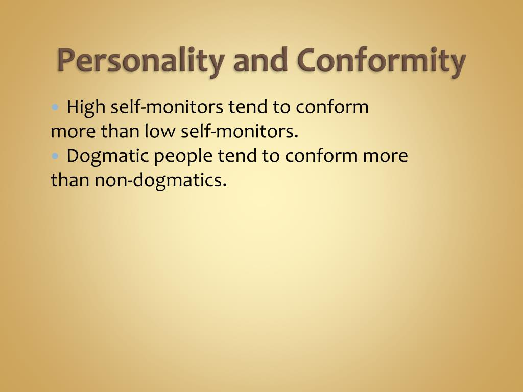 Personality and Conformity