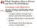 whole numbers how to dissect and solve word problems