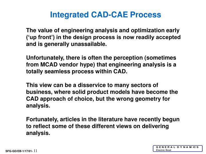 Integrated CAD-CAE