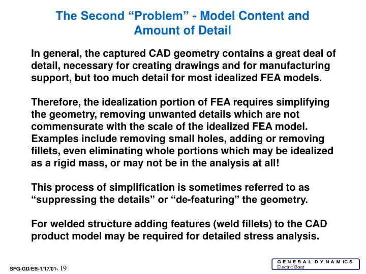 """The Second """"Problem"""" - Model Content and Amount of Detail"""