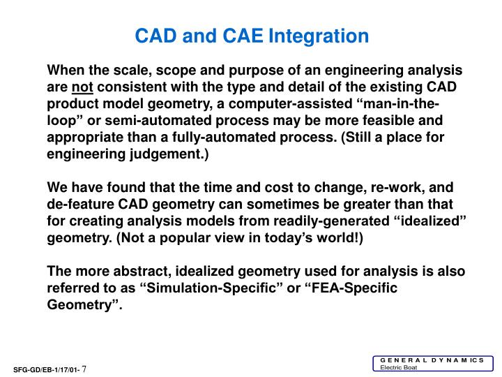 CAD and CAE