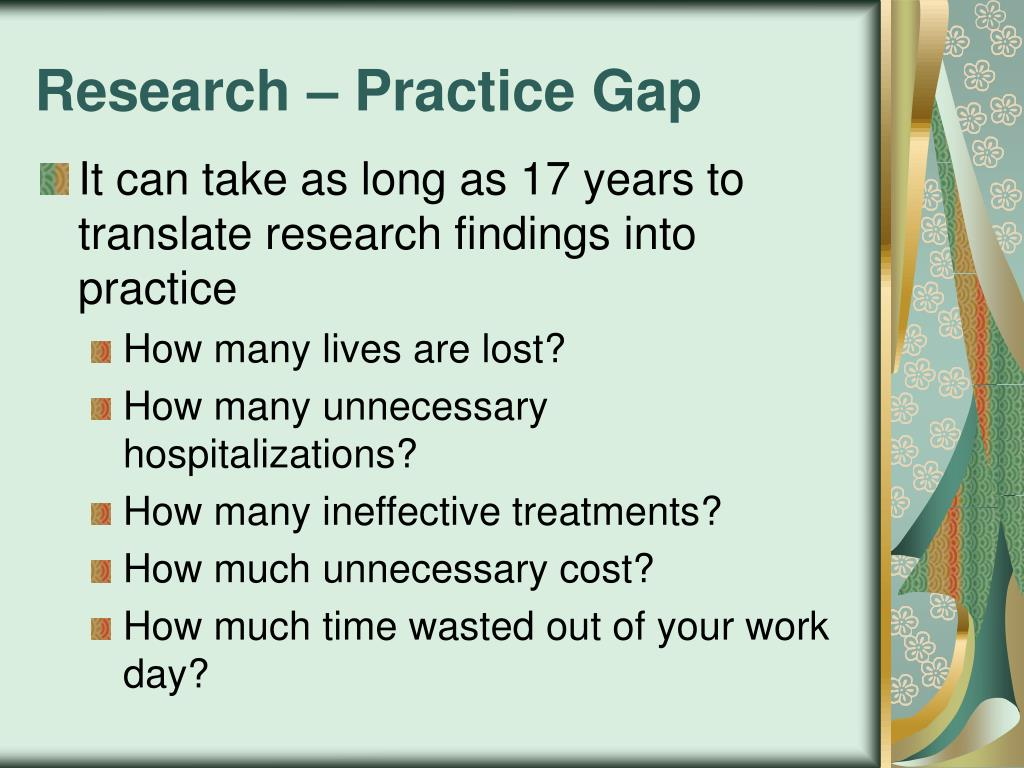 Ppt Application Of Research Into Practice Using