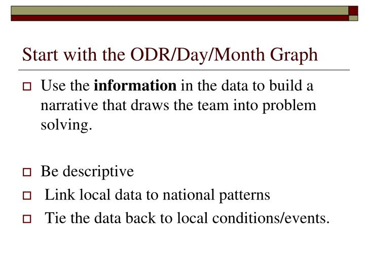 Start with the ODR/Day/Month Graph