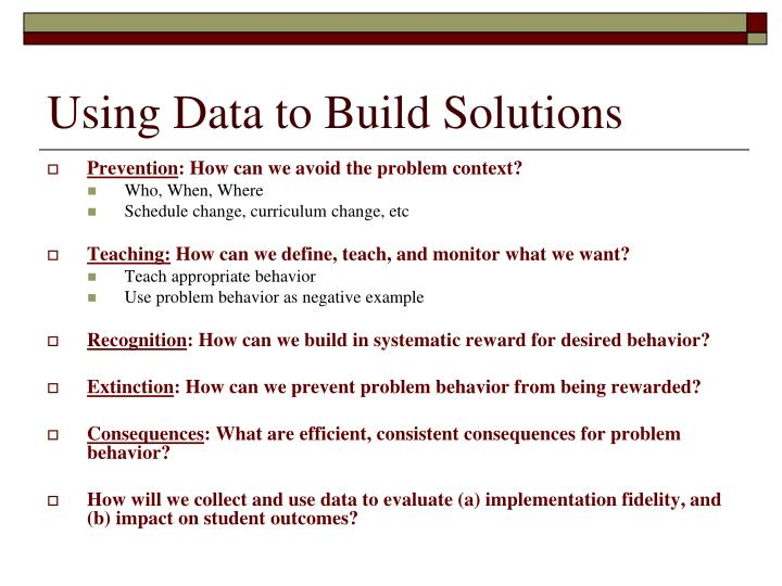 Using Data to Build Solutions