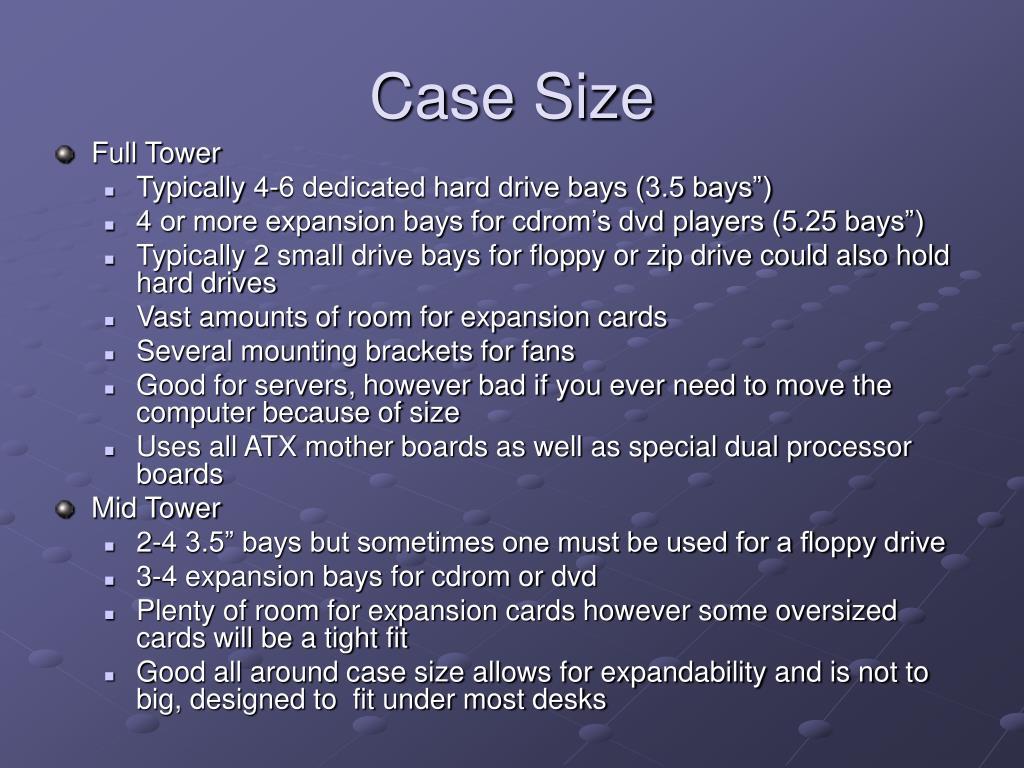 Case Size