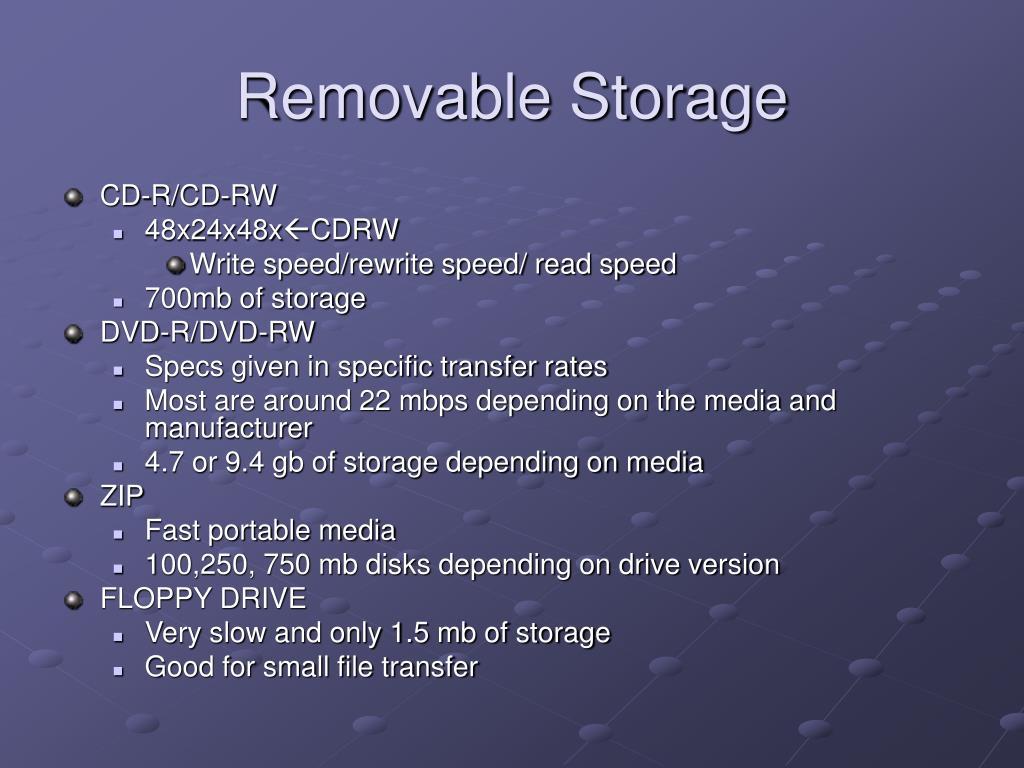 Removable Storage