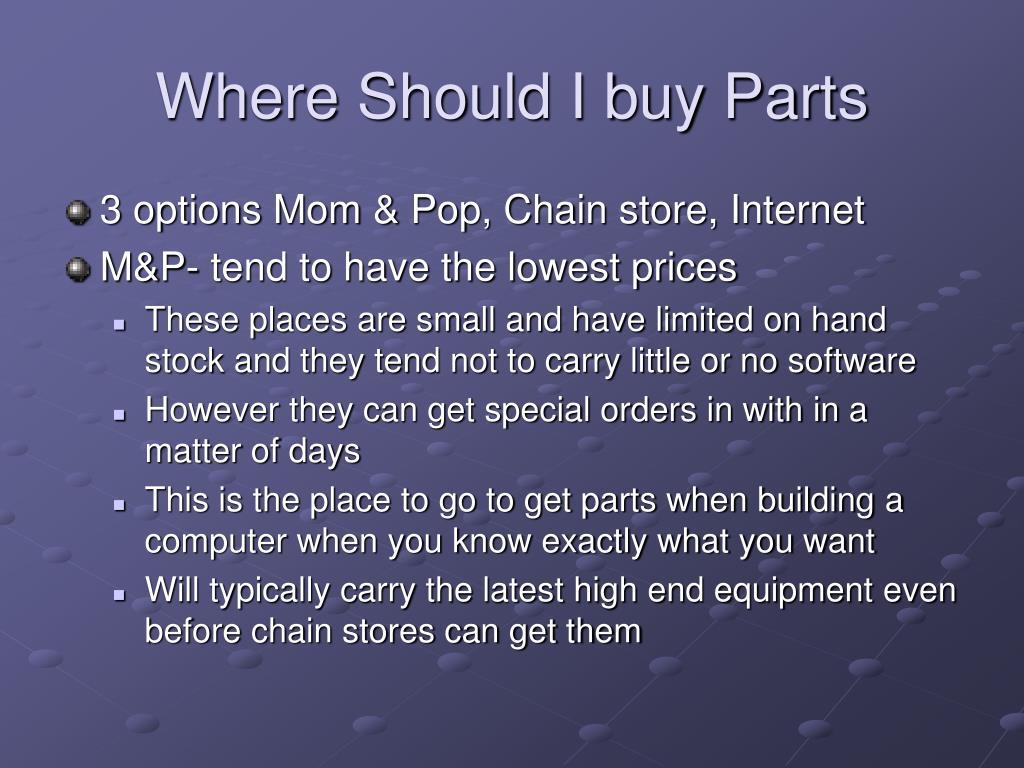 Where Should I buy Parts