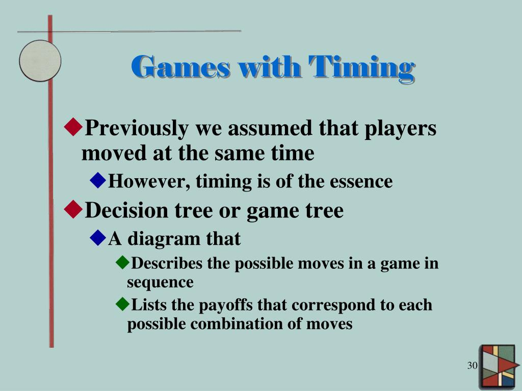 Games with Timing