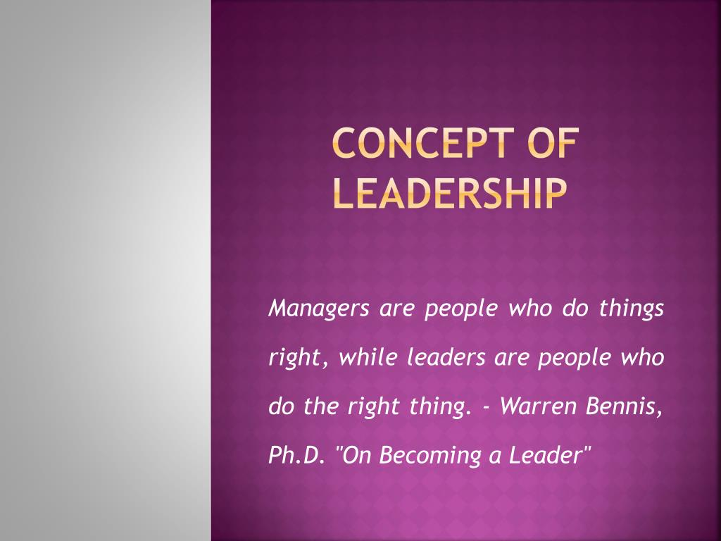 Concept of Leadership