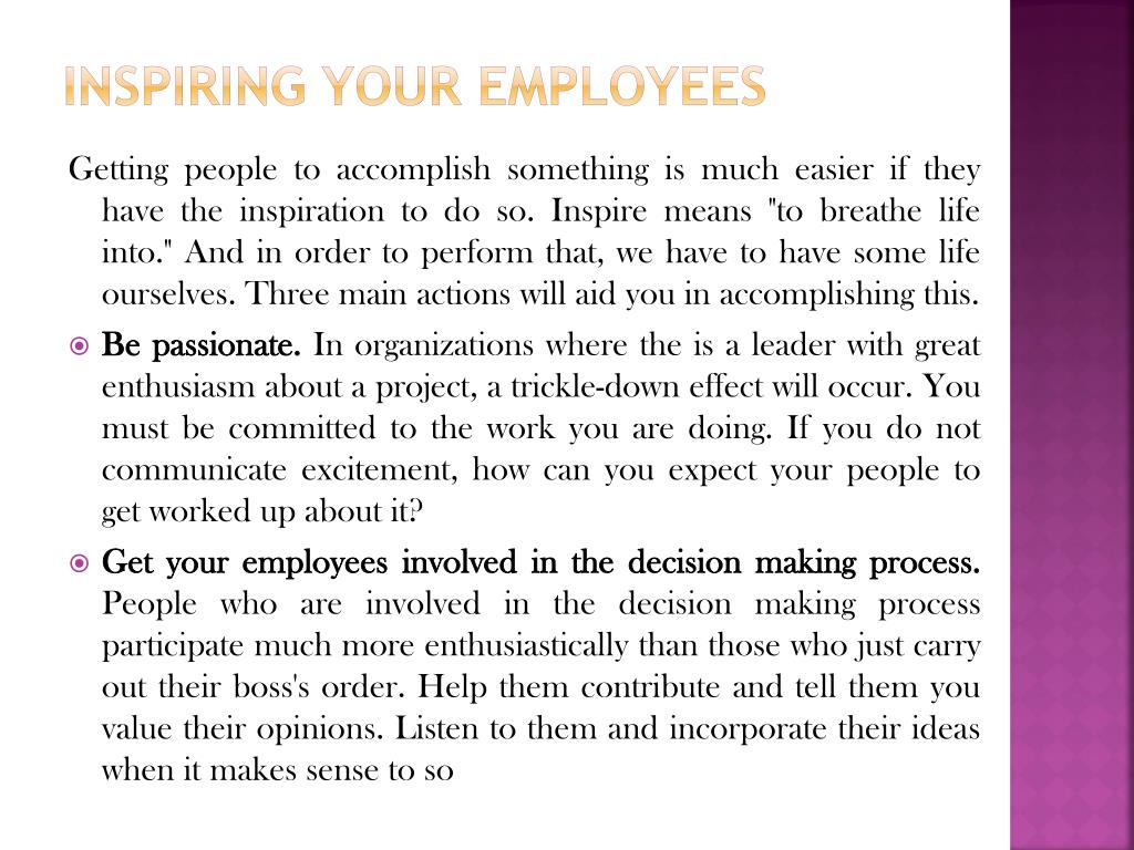 Inspiring Your Employees