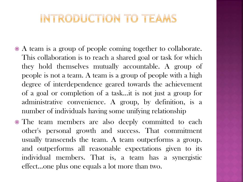 Introduction To Teams