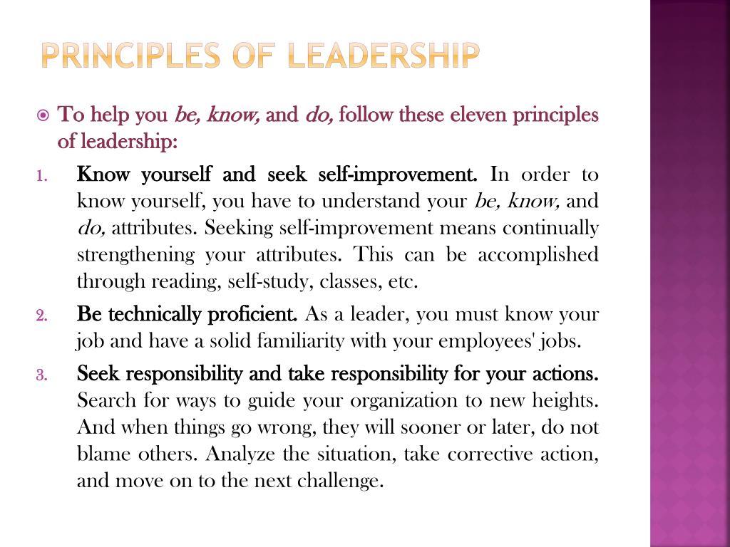 Principles of Leadership