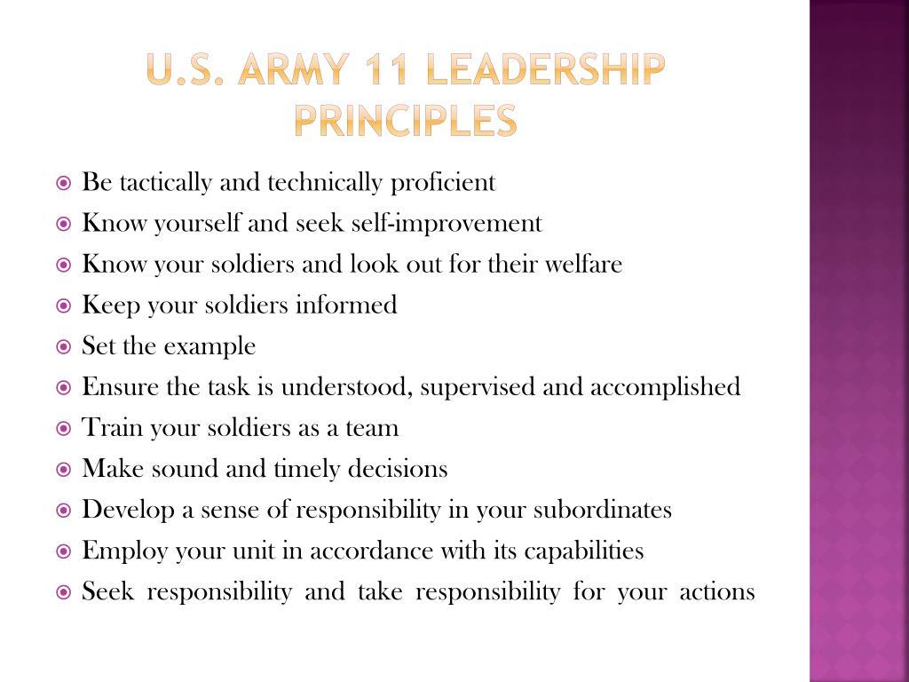 U.S. Army 11 Leadership Principles