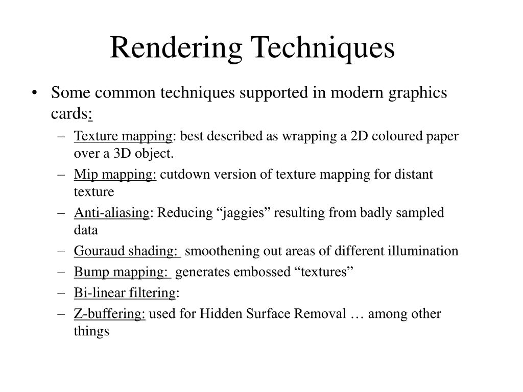 Rendering Techniques