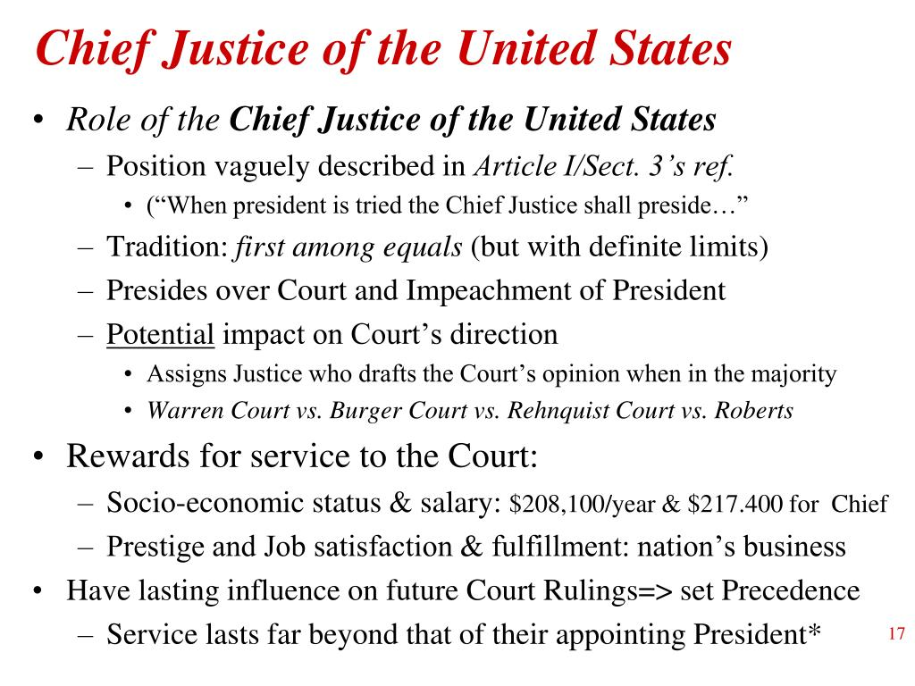 Chief Justice of the United States