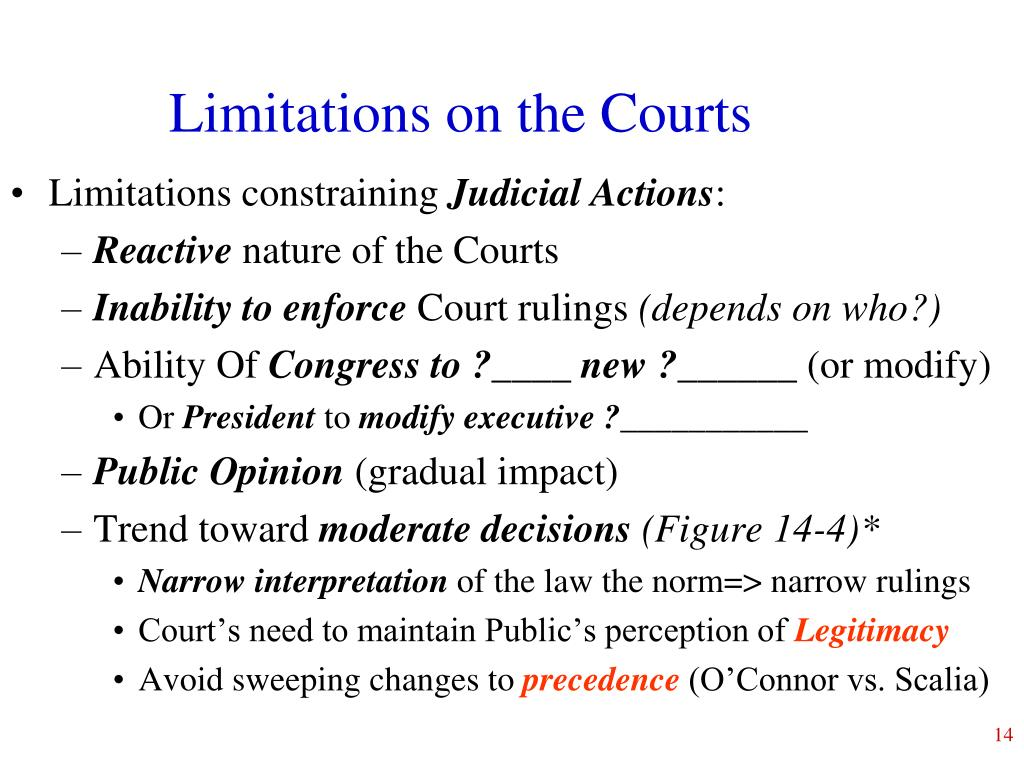 Limitations on the Courts