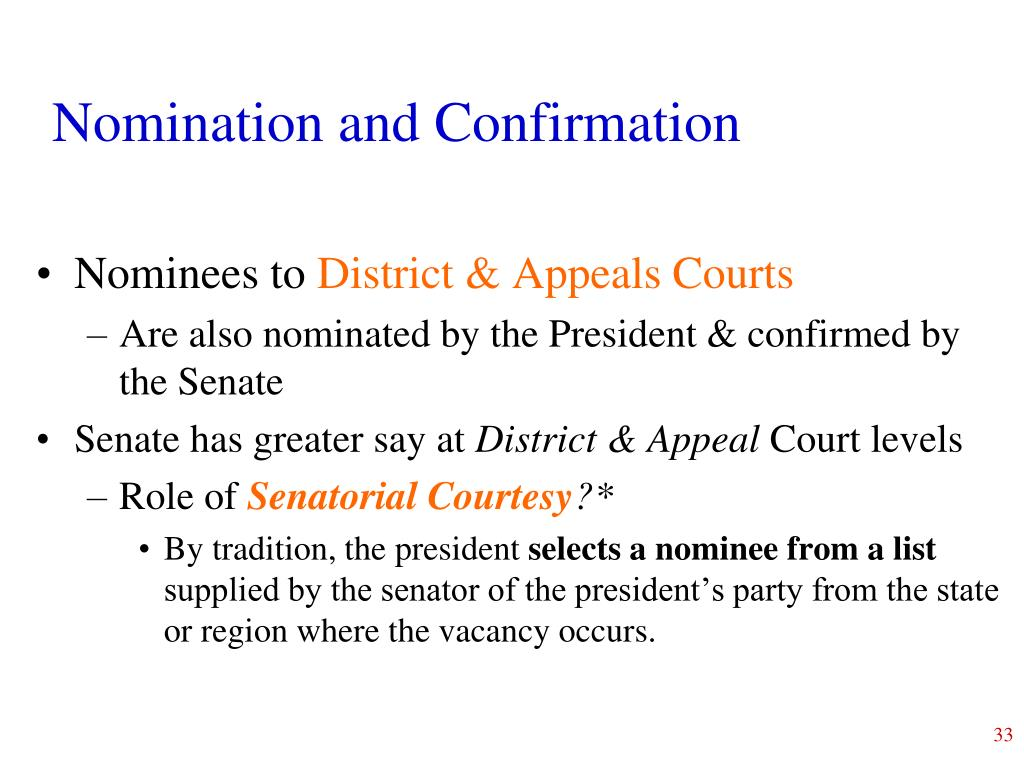 Nomination and Confirmation