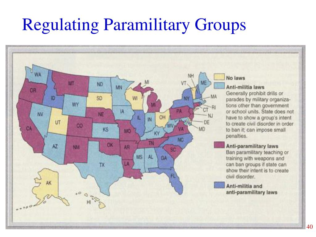 Regulating Paramilitary Groups