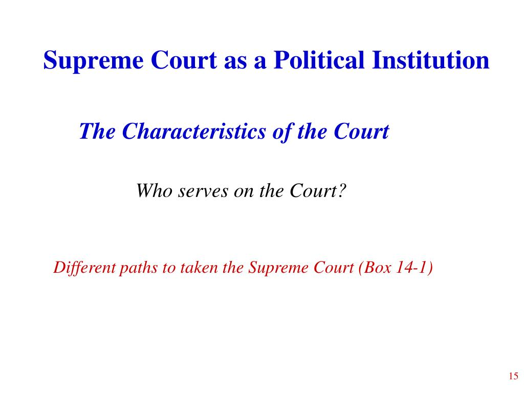 Supreme Court as a Political Institution