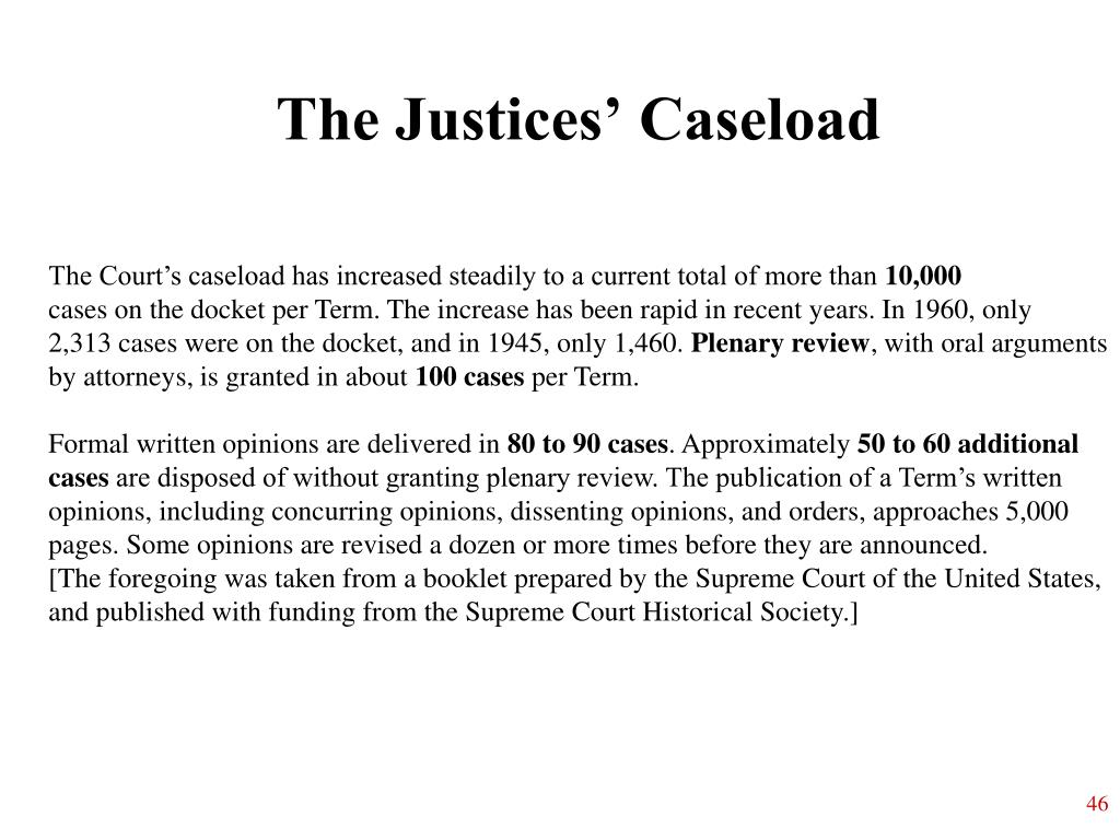 The Justices' Caseload