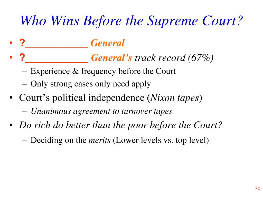 Who Wins Before the Supreme Court?
