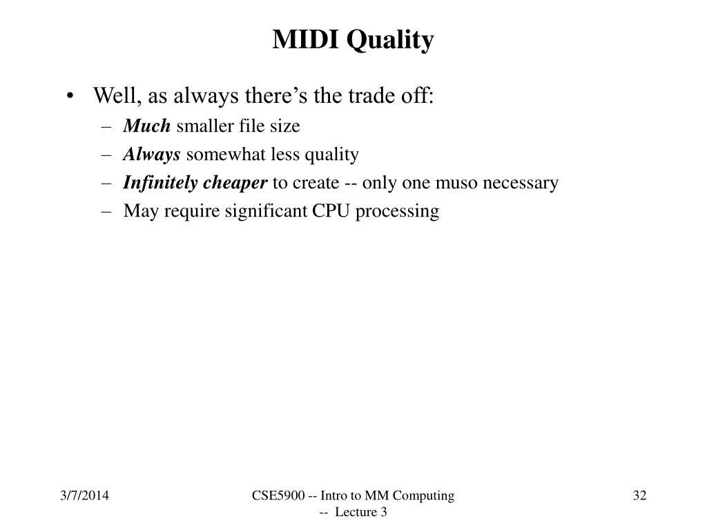 MIDI Quality