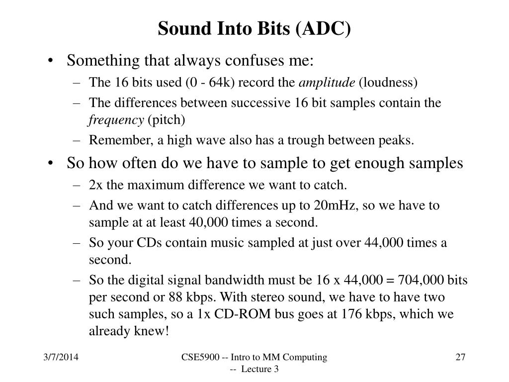 Sound Into Bits (ADC)