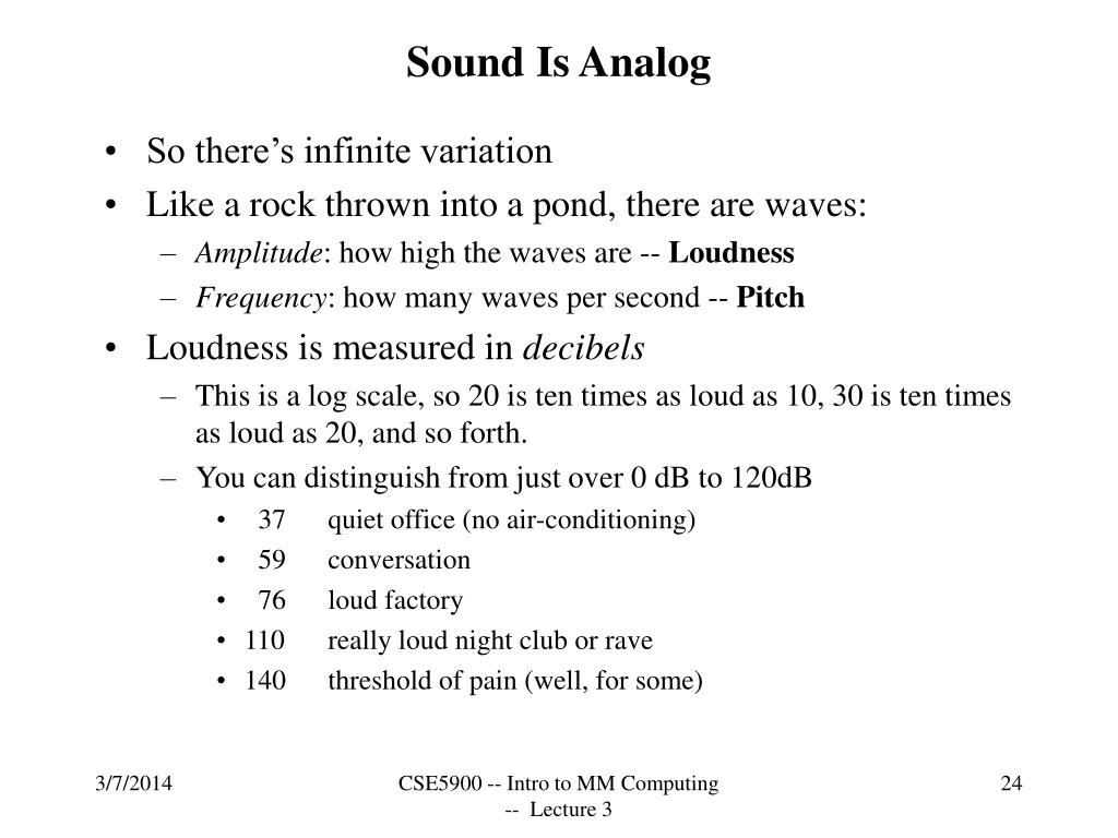 Sound Is Analog