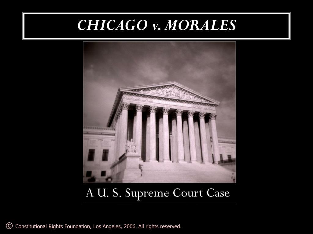 CHICAGO v. MORALES