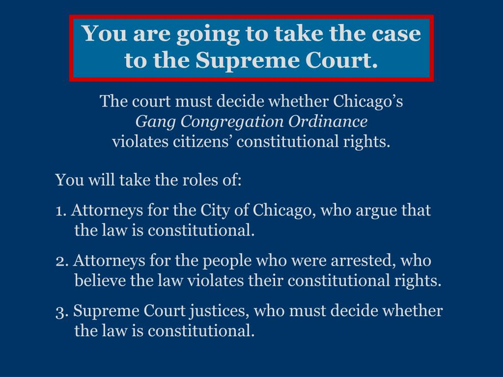 You are going to take the case to the Supreme Court.