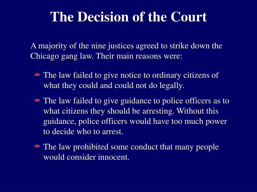The Decision of the Court