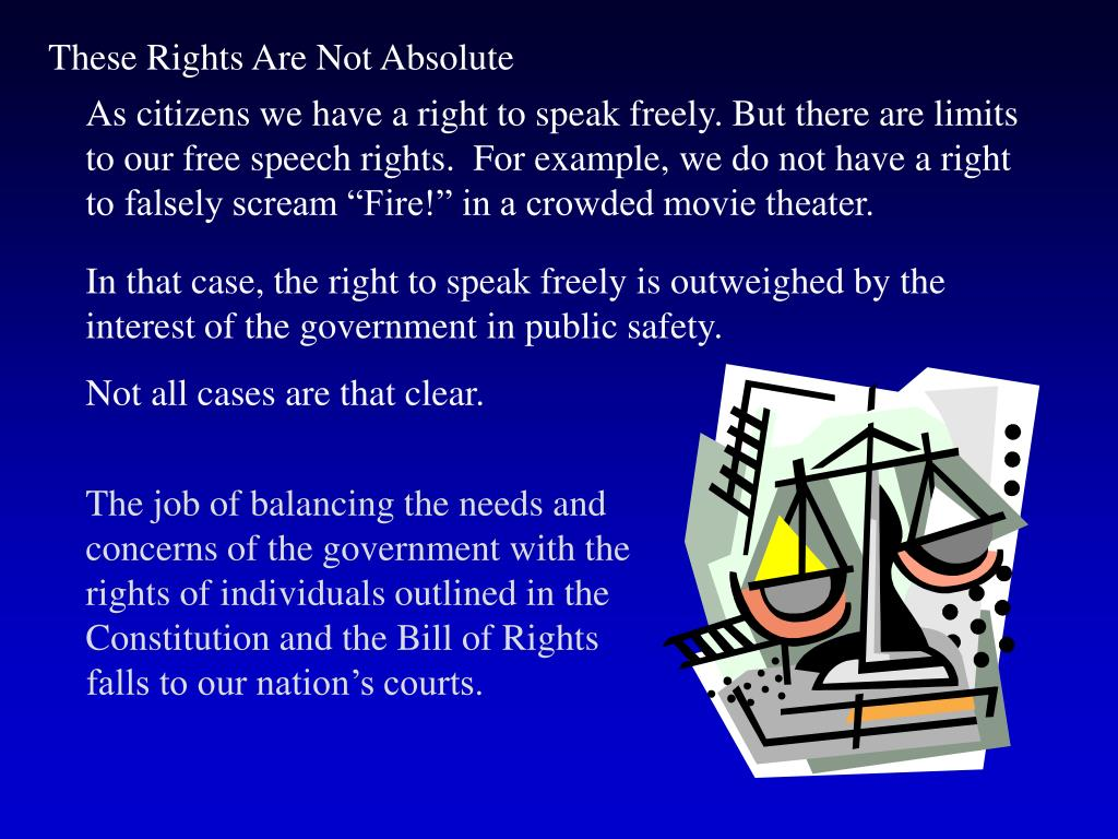 These Rights Are Not Absolute