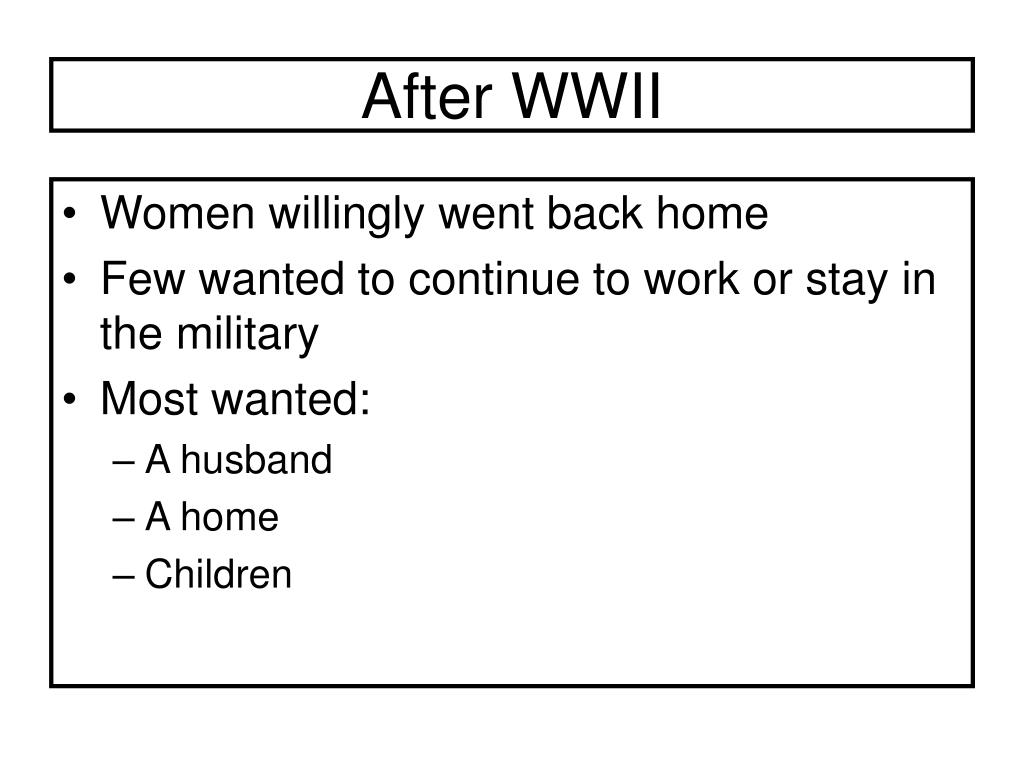 After WWII