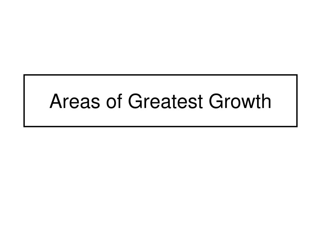 Areas of Greatest Growth