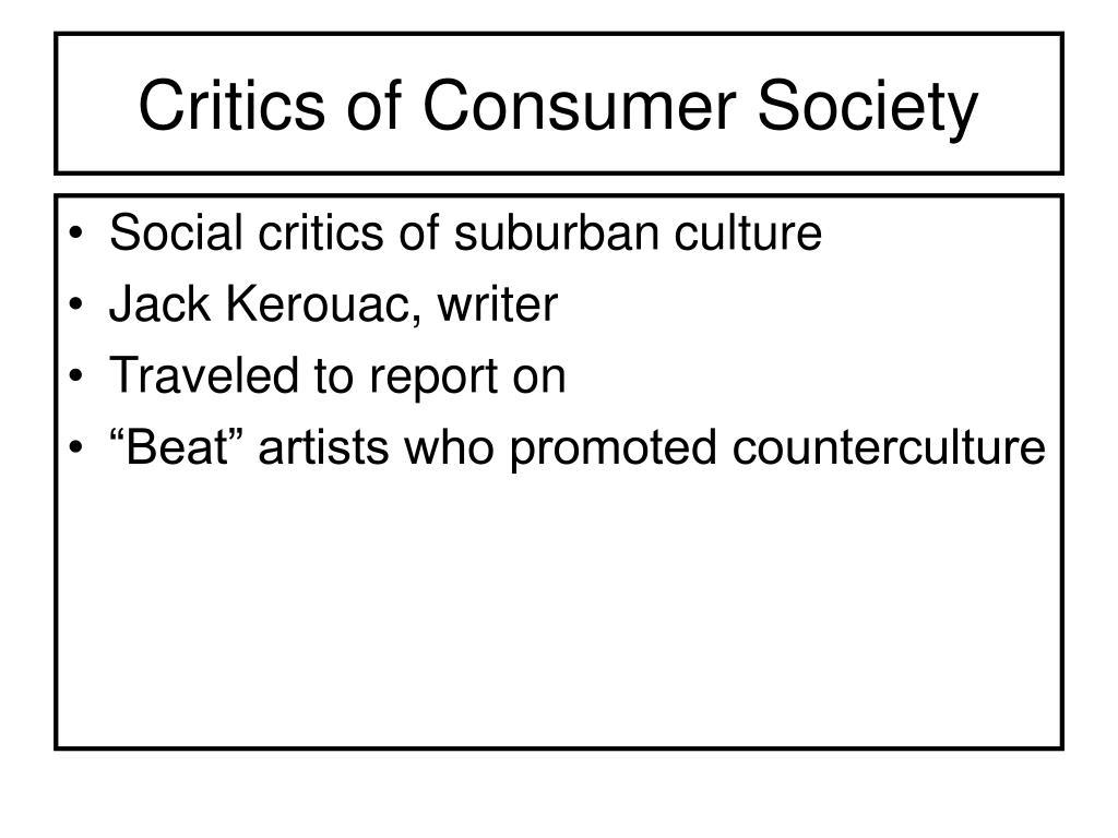 Critics of Consumer Society