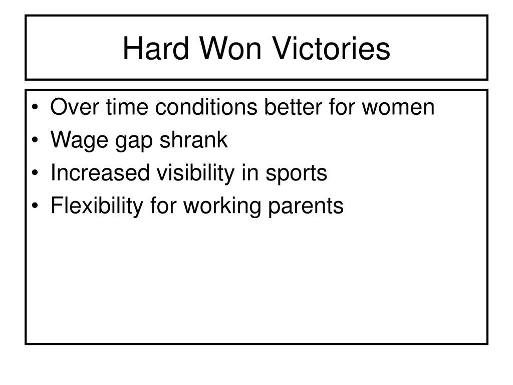 Hard Won Victories