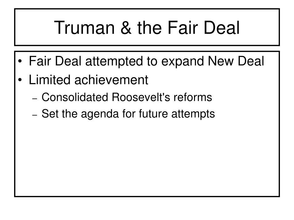 Truman & the Fair Deal
