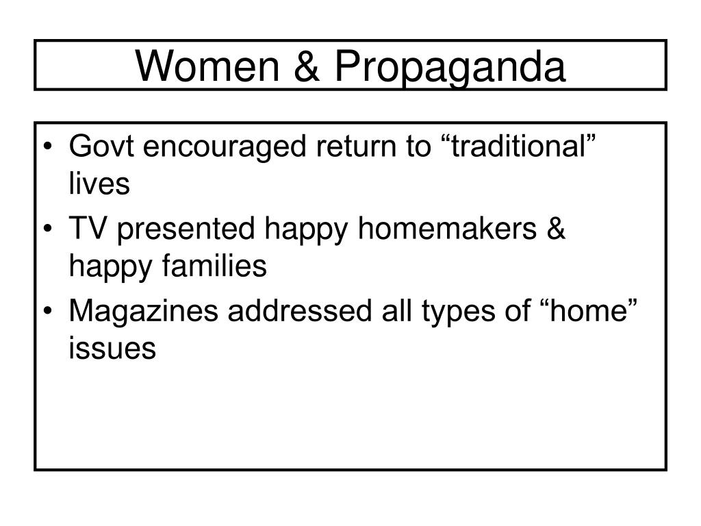 Women & Propaganda