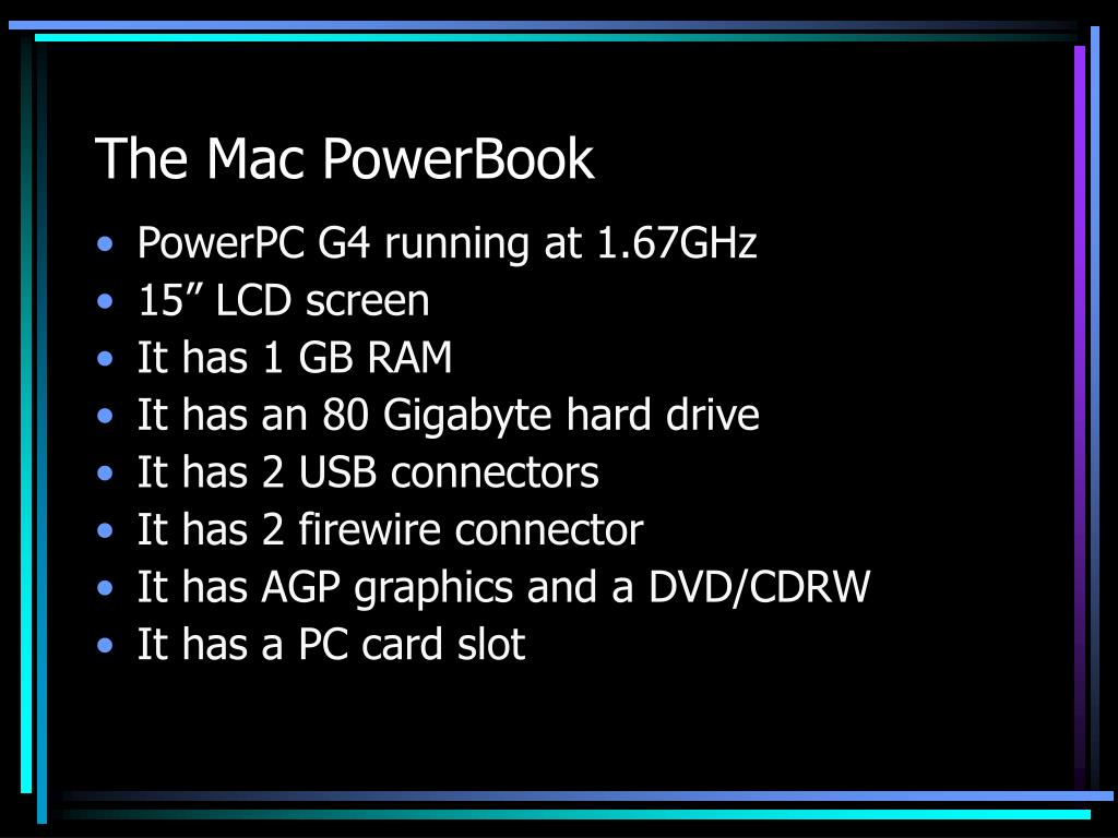 The Mac PowerBook