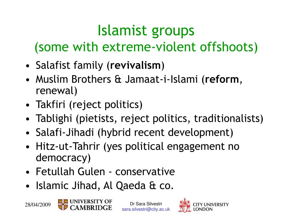 Islamist groups
