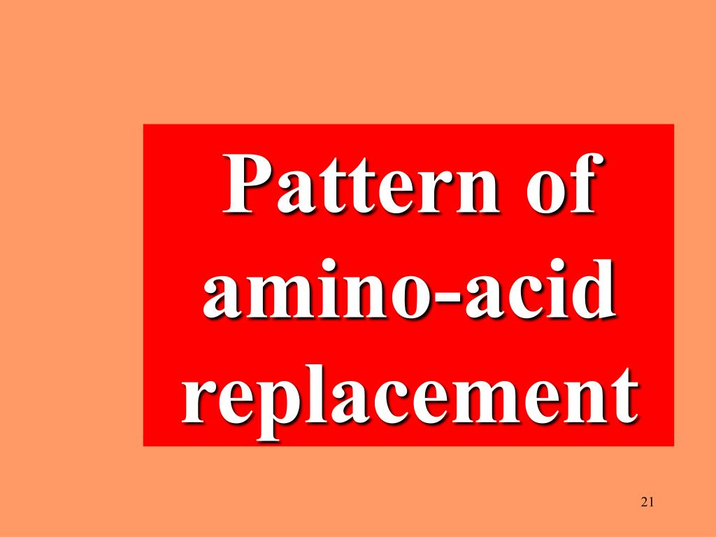Pattern of amino-acid replacement